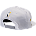 Back view of New Era Indiana Pacers NBA 2017 Draft Official On Court Collection 9FIFTY Snapback Hat in White