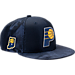 Front view of New Era Indiana Pacers NBA 2017 Draft Official On Court Collection 9FIFTY Snapback Hat in Team Colors