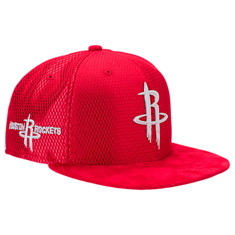 New Era Houston Rockets NBA 2017 Draft Official On Court Collection 9FIFTY Snapback Hat