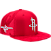 Front view of New Era Houston Rockets NBA 2017 Draft Official On Court Collection 9FIFTY Snapback Hat in Team Colors