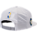 Back view of New Era Golden State Warriors NBA 2017 Draft Official On Court Collection 9FIFTY Snapback Hat in White