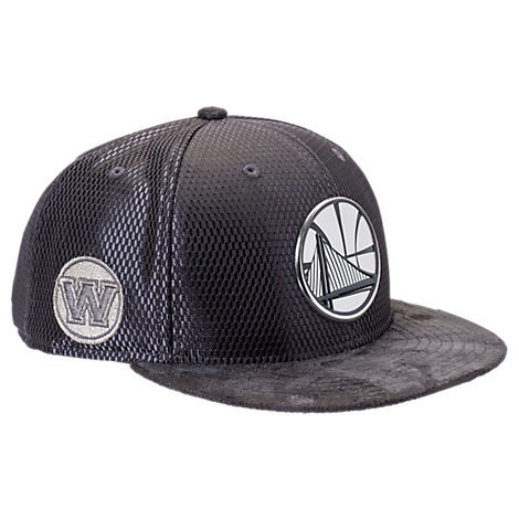 New Era Golden State Warriors NBA 2017 Draft Official On Court Collection 9FIFTY Snapback Hat