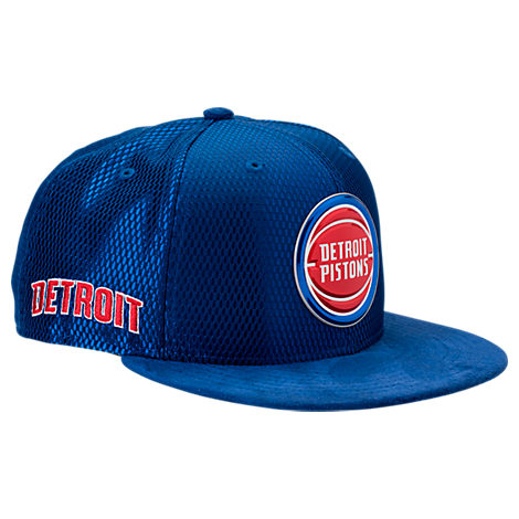 New Era Detroit Pistons NBA 2017 Draft Official On Court Collection 9FIFTY Snapback Hat