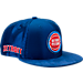 Front view of New Era Detroit Pistons NBA 2017 Draft Official On Court Collection 9FIFTY Snapback Hat in Team Colors