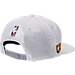 Back view of New Era Cleveland Cavaliers NBA 2017 Draft Official On Court Collection 9FIFTY Snapback Hat in White