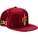 Front view of New Era Cleveland Cavaliers NBA 2017 Draft Official On Court Collection 9FIFTY Snapback Hat in Team Colors