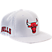 Front view of New Era Chicago Bulls NBA 2017 Draft Official On Court Collection 9FIFTY Snapback Hat in White