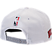 Back view of New Era Chicago Bulls NBA 2017 Draft Official On Court Collection 9FIFTY Snapback Hat in White