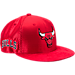 Front view of New Era Chicago Bulls NBA 2017 Draft Official On Court Collection 9FIFTY Snapback Hat in Reverse Team Colors