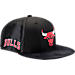 Front view of New Era Chicago Bulls NBA 2017 Draft Official On Court Collection 9FIFTY Snapback Hat in Team Colors