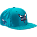 Front view of New Era Charlotte Hornets NBA 2017 Draft Official On Court Collection 9FIFTY Snapback Hat in Team Colors