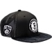 Front view of New Era Brooklyn Nets NBA 2017 Draft Official On Court Collection 9FIFTY Snapback Hat in Team Colors