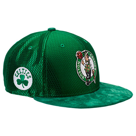 New Era Boston Celtics NBA 2017 Draft Official On Court Collection 9FIFTY Snapback Hat
