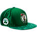 Front view of New Era Boston Celtics NBA 2017 Draft Official On Court Collection 9FIFTY Snapback Hat in Team Colors