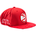Front view of New Era Atlanta Hawks NBA 2017 Draft Official On Court Collection 9FIFTY Snapback Hat in Team Colors