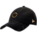 Front view of New Era Washington Wizards NBA 2017 Draft Official On Court Collection 9TWENTY Adjustable Hat in Black/Gold