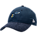 Front view of New Era Utah Jazz NBA 2017 Draft Official On Court Collection 9TWENTY Adjustable Hat in Team Colors