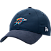 Front view of New Era Oklahoma City Thunder NBA 2017 Draft Official On Court Collection 9TWENTY Adjustable Hat in Team Colors