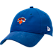 Front view of New Era New York Knicks NBA 2017 Draft Official On Court Collection 9TWENTY Adjustable Hat in Team Colors
