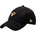 Front view of New Era New York Knicks NBA 2017 Draft Official On Court Collection 9TWENTY Adjustable Hat in Black/Gold