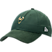 Front view of New Era Milwaukee Bucks NBA 2017 Draft Official On Court Collection 9TWENTY Adjustable Hat in Team Colors
