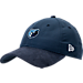 Front view of New Era Memphis Grizzlies NBA 2017 Draft Official On Court Collection 9TWENTY Adjustable Hat in Team Colors