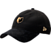 Front view of New Era Memphis Grizzlies NBA 2017 Draft Official On Court Collection 9TWENTY Adjustable Hat in Black/Gold