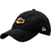 Front view of New Era Los Angeles Lakers NBA 2017 Draft Official On Court Collection 9TWENTY Adjustable Hat in Black/Gold