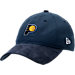 Front view of New Era Indiana Pacers NBA 2017 Draft Official On Court Collection 9TWENTY Adjustable Hat in Team Colors