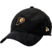 Front view of New Era Indiana Pacers NBA 2017 Draft Official On Court Collection 9TWENTY Adjustable Hat in Black/Gold