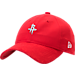 Front view of New Era Houston Rockets NBA 2017 Draft Official On Court Collection 9TWENTY Adjustable Hat in Team Colors