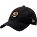 Front view of New Era Golden State Warriors NBA 2017 Draft Official On Court Collection 9TWENTY Adjustable Hat in Black/Gold