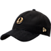 Front view of New Era Dallas Mavericks NBA 2017 Draft Official On Court Collection 9TWENTY Adjustable Hat in Black/Gold