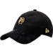 Front view of New Era Boston Celtics NBA 2017 Draft Official On Court Collection 9TWENTY Adjustable Hat in Black/Gold