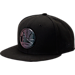 Front view of New Era Golden State Warriors NBA Speckle Sheen Snapback Hat in Black