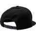 Back view of New Era Golden State Warriors NBA Speckle Sheen Snapback Hat in Black