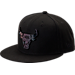 Front view of New Era Chicago Bulls NBA Speckle Sheen Snapback Hat in Black