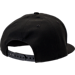 Back view of New Era Chicago Bulls NBA Speckle Sheen Snapback Hat in Black