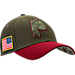 Front view of New Era Washington Redskins NFL Salute To Service 39THIRTY Fitted Hat in Team Colors/Camo