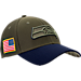 Front view of New Era Seattle Seahawks NFL Salute To Service 39THIRTY Fitted Hat in Team Colors/Camo