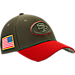 Front view of New Era San Francisco 49ers NFL Salute To Service 39THIRTY Fitted Hat in Team Colors/Camo