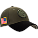 Front view of New Era Pittsburgh Steelers NFL Salute To Service 39THIRTY Fitted Hat in Team Colors/Camo