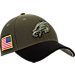 Front view of New Era Philadelphia Eagles NFL Salute To Service 39THIRTY Fitted Hat in Team Colors/Camo