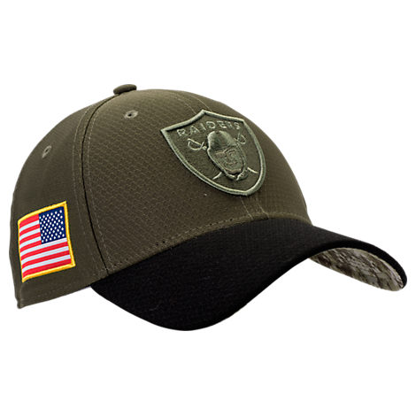 New Era Oakland Raiders NFL Salute To Service 39THIRTY Fitted Hat