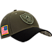 Front view of New Era Oakland Raiders NFL Salute To Service 39THIRTY Fitted Hat in Team Colors/Camo