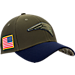 Front view of New Era New England Patriots NFL Salute To Service 39THIRTY Fitted Hat in Team Colors/Camo