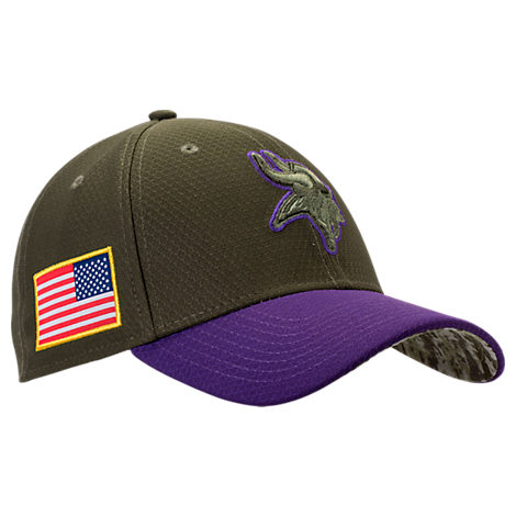 New Era Minnesota Vikings NFL Salute To Service 39THIRTY Fitted Hat