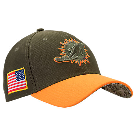 New Era Miami Dolphins NFL Salute To Service 39THIRTY Fitted Hat
