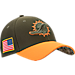 Front view of New Era Miami Dolphins NFL Salute To Service 39THIRTY Fitted Hat in Team Colors/Camo