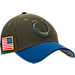 Front view of New Era Indianapolis Colts NFL Salute To Service 39THIRTY Fitted Hat in Team Colors/Camo